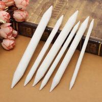 6Pcs White Pastel Charcoal Blender Stump Tortillon Sketch Drawing Pen B2N7