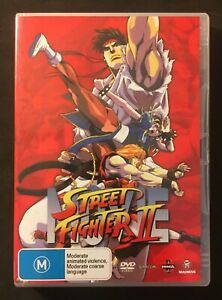 STREET FIGHTER II: THE ANIMATED MOVIE (1994) ANIME - REGION 4 - LIKE NEW - OOP