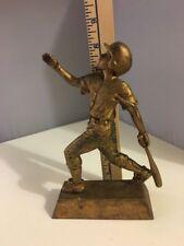 Gold Toned Boy Baseball Statue-Trophy-Award - Home Run By Pdu