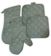 Kitchen Accessory Set Oven Mitts Pot Holders Gray Slate Pewter Color NEW