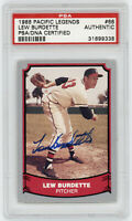1988 BRAVES Lew Burdette signed Pacific Legends card #68 PSA AUTO Autographed