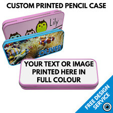 Custom Printed Pencil Tin • Personalised Back To School Gift Image Text Photo