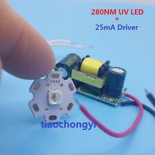 280nm UV purple led diodes,low wavelength Ultra Violet UV LED's with Driver