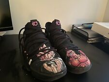 NIke Zoom KD 10 X Basketball Shoes 'Triple Black' Dragon Ball Customized.