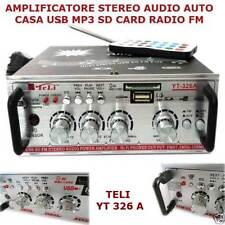 AMPLIFICATORE HIFI AUDIO 12V 220V USB SD MP3 FM RADIO PER PC DVD IMPIANTI STEREO
