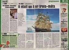 Coupure de presse Clipping 2000 Le trois mâts Belem  (1 page 1/3)
