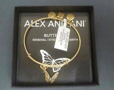 Alex and Ani BUTTERFLY Rafaelian Gold Charm Bangle New W/ Tag Card & Box