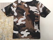 Michael Kors Collection Camouflage military Top Blouse s 2 M Medium poly/ silk