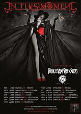 IN THIS MOMENT 2015 EUROPEAN CONCERT TOUR POSTER-Metalcore/Alt /Gothic /Nu Metal