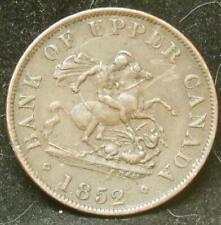 Bank of Upper Canada 1852 One Half Penny Bank Token Nice Coin!