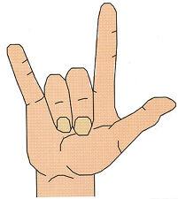I LOVE YOU SIGN LANGUAGE CROSS STITCH PATTERN