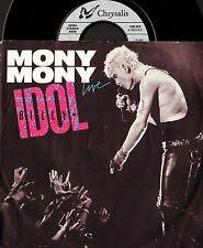 "Billy Idol Mony Mony Live 7"" PS ex/ex NOC alemán Chrysalis 109 312"