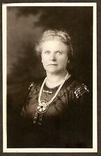1910 RPPC White Woman NATIVE AMERICAN BEADED DRESS Pearls REAL PHOTO POSTCARD RP