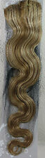 "AAA+ 22"" Remy Human Hair Clips in Extensions 75G Body Wavy #27/613 Mixed Blonde"