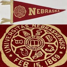 1950's Nebraska Cornhuskers University BF3 Mini Pennant 3.75x8.75 inches