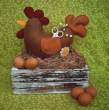 Henrietta - Sewing Craft PATTERN - Pincushion Storage Sewing Hen Chicken Chick