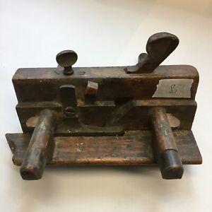 Vintage wooden rebate/ plough plane (B). Beech. Collectable Woodwork Craftsmen