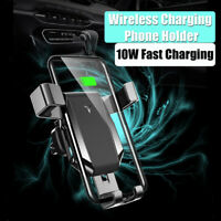 Universal Qi Wireless Charging Car Charger Mount Holder Stand For Cell Phone New