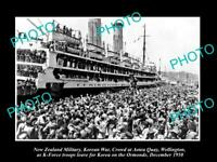 OLD LARGE HISTORIC PHOTO OF KOREAN WAR NEW ZEALAND TROOPS AT WELLINGTON c1950