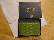 WOMANS SMALL PURSE CREDIT CARD HOLDER CHANGE ZIPPERED BY CRIUS IN GIFT BOX XMAS