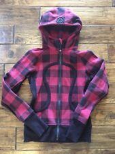 Lululemon Scuba Hoodie - Lumberjack Mini Camp Check Bumble Berry - Size 4
