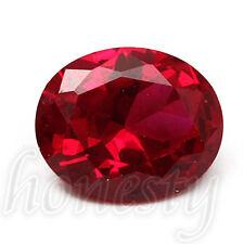 9X11MM Beautiful Pigeon Blood Red Sapphire Lustrous Loose Gemstone Gem