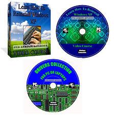 Learn How To Reinstall Repair Restore Windows XP, Vista, 7, 8, 10 Video Course