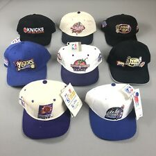 Lot Of 8 Vintage New NBA All Star Weekend Finals Strap SnapBack Hats 1995 - 2001