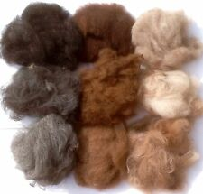 MEGA ALPACA Sampler100% Natural Fiber roving wool Needle Felting Art 9 Colors