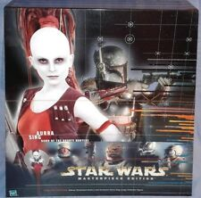 "Aurra Sing 12"" Masterpiece Edition figure & book w/ Star Wars character comics"