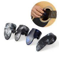 4pcs Celluloid Ukulele Banjo Guitar Finger Picks with Thumb Pick Plectrums