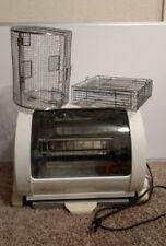 Electric George Foreman Jr. Horizontal Rotisserie Rotating Roaster Oven Gr82