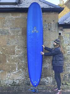 CAN SHIP O'Shea Longboard Surfboard 9'6, SET, bag, fins 2+1 single fin leash bag