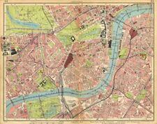 Londres. brompton pimlico mayfair westminster chelsea lambeth west end 1925 carte
