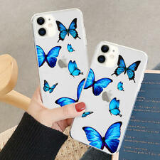 Clear Butterfly Pattern Soft TPU Bumper Case Cover For iPhone 11 7 8+ SE XS XR