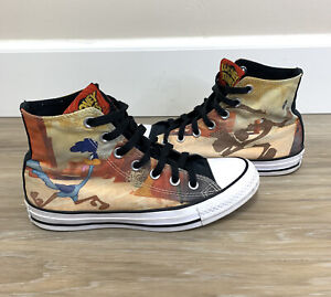 Converse All Stars Looney Tunes Wiley Coyote Road Runner Shoes Sze Men 5 Women 7