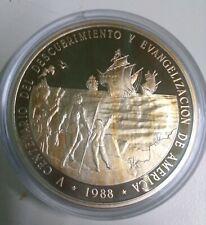 100 Pesos  República Dominicana  Plata 1988