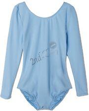 Girls Leotard Ballet Dress  Long Sleeve Ballerina Fairy Swan Costumes Dancewear