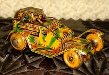 *SHOOTS SPARKS* Pre-war Armoured Military Vehicle Tin Toy Wind-up WORKS GREAT!