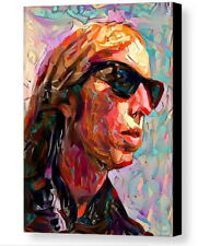 Framed Free Fallin Abstract Tom Petty 9X11 Art Print Limited Ed. w/signed Coa