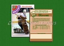 Ron Grahame - Boston Bruins - Custom Hockey Card  - 1977-78