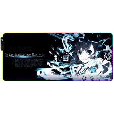 Anime Toaru Kagaku no Railgun Luminous Mouse Mat Mouse Pad Oversize Mat Gift