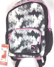 """Puma Youth 15"""" Youth Laptop Backpack Elena Evercat Black White Grey NEW"""