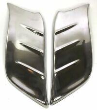 Pair (2) Front Gravel Shields for 1953-1954 Chevrolet Car (Stainless Trim)