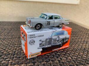 Matchbox Power Grabs - 1962 Mercedes-Benz 220 SE Sedan Rally sealed in box