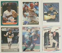 """⚾️Benito Santiago 6-CARD LOT including ROOKIE 1987 Donruss """"The Rookies"""" #44"""