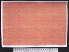 "O gauge (1:48 scale) ""red/orange brick ( english bond)"" paper - A4 sheet"
