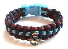 Raf (royal air force) ajourées badge paracord bracelet