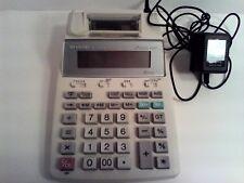 Sharp El-1750piii Desktop Calculator AC Adapter 2 Color Print 12 Digit