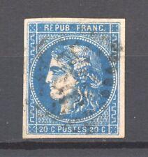 FRANCE 46Ba bleu foncé, gros point blanc après C TRES BEAU. Cote: 50€+   -C148-
